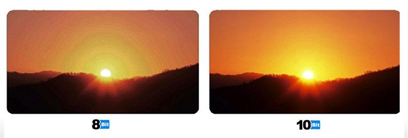 8bit vs 10 bit color